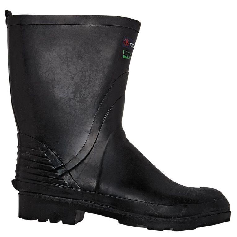 Skellerup Mudguard Gumboots, Black, hi-res