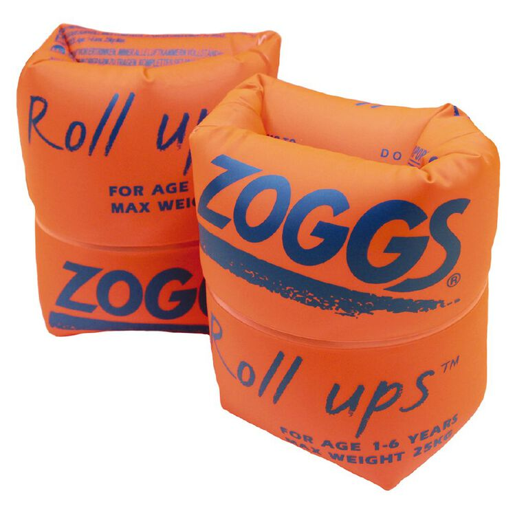 Zoggs Swimming Roll Ups 1-6 Years Red, , hi-res