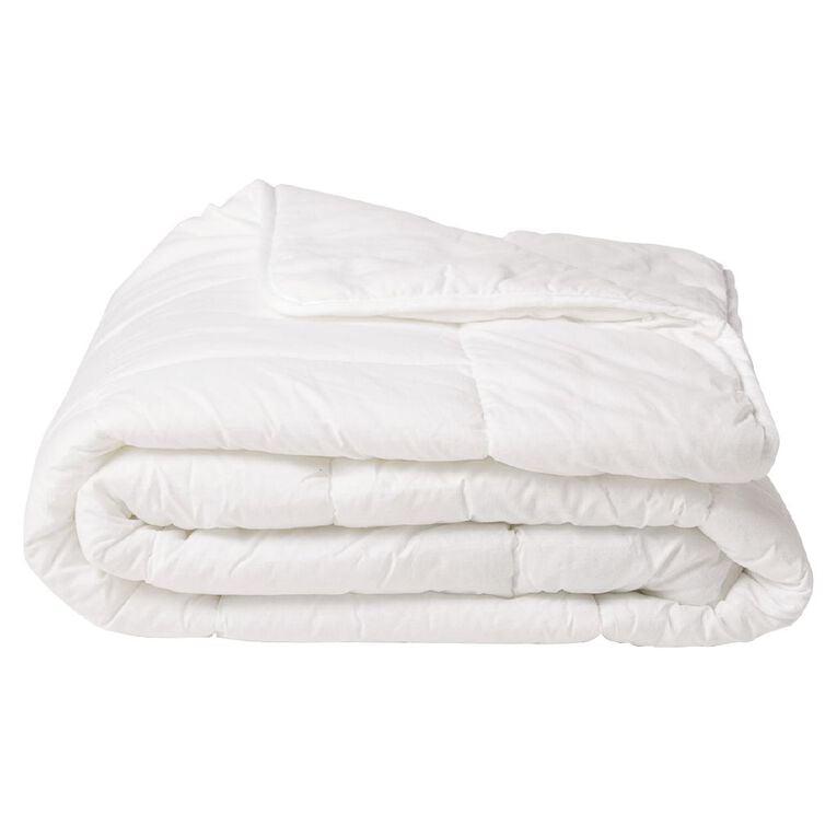 Living & Co Duvet Inner Light Weight Microfibre White Single, White, hi-res