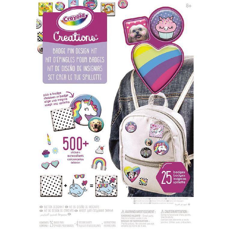 Crayola Creations Badge Pin Design Kit, , hi-res