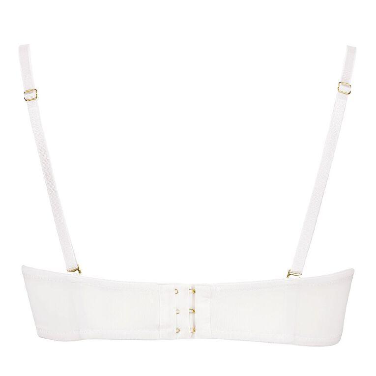 H&H Women's Strapless Bra, White, hi-res