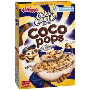 Kelloggs Coco Pops Cookie Crumble Cereal 330g
