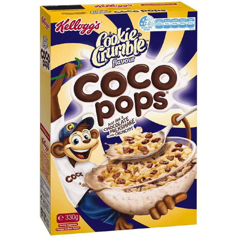 Kelloggs Coco Pops Cookie Crumble Cereal 330g, , hi-res