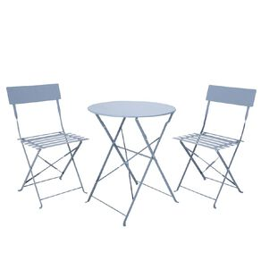 Living & Co Steel French Bistro Set Dusty Blue