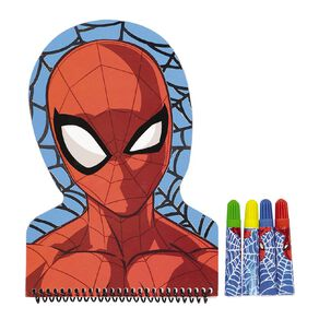 Spider-Man Shaped Notebook & Felts Set
