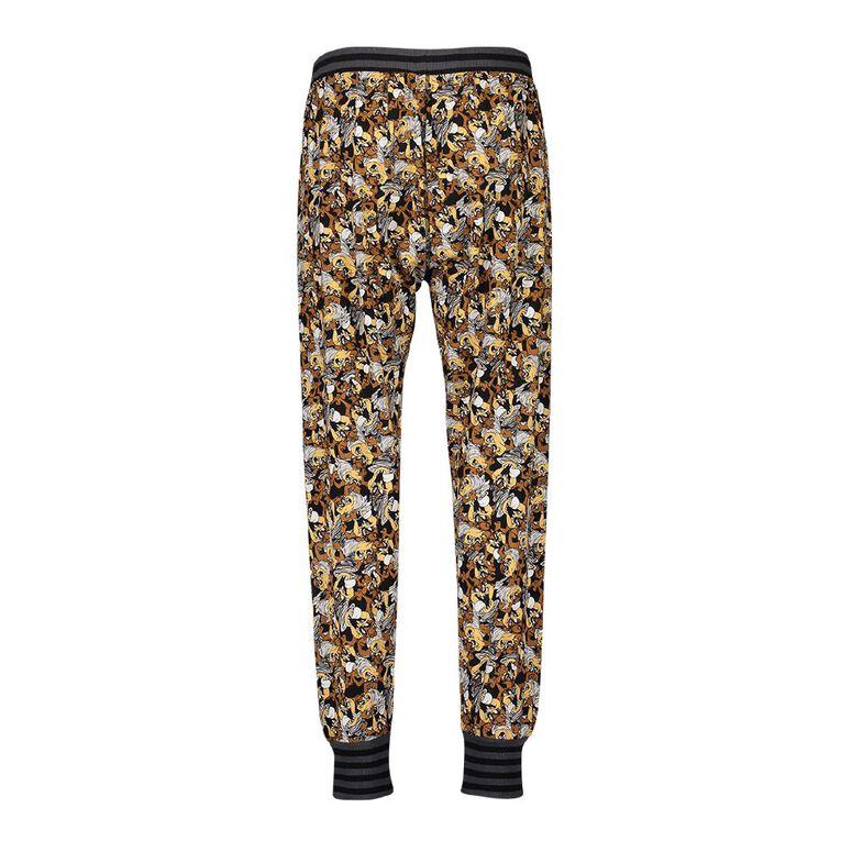 Looney Tunes Men's Stretch Pyjama Pants, Black, hi-res