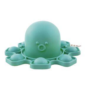 Fidget Push Pop Keyring Reversable Octopus Solid Colours