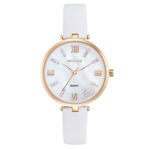 Mestige Grace in White with Swarovski Crystals Gold Plated