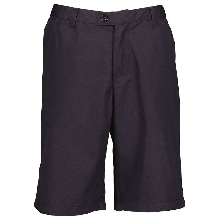Schooltex Unisex Elastic Back Shorts, Dark Navy, hi-res