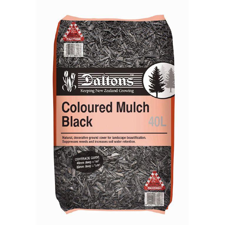 Daltons Coloured Mulch Black 40L, , hi-res