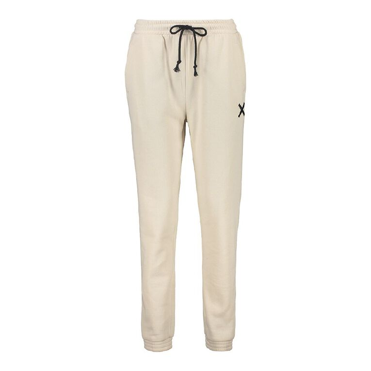 H&H Women's Elastic Fleece Trackpants, Taupe, hi-res