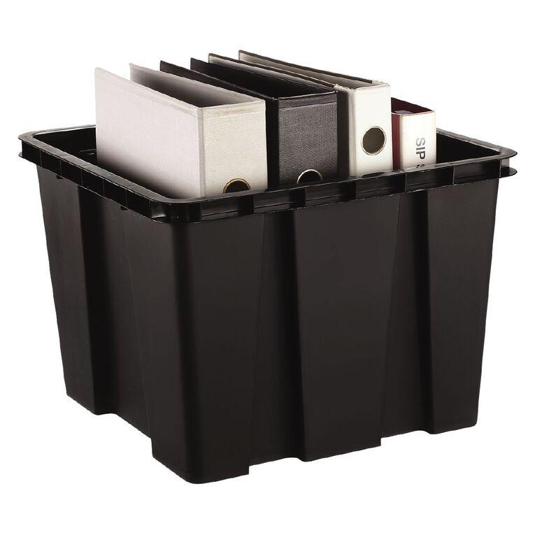 Living & Co Nest & Stack Cube Black 30L, , hi-res