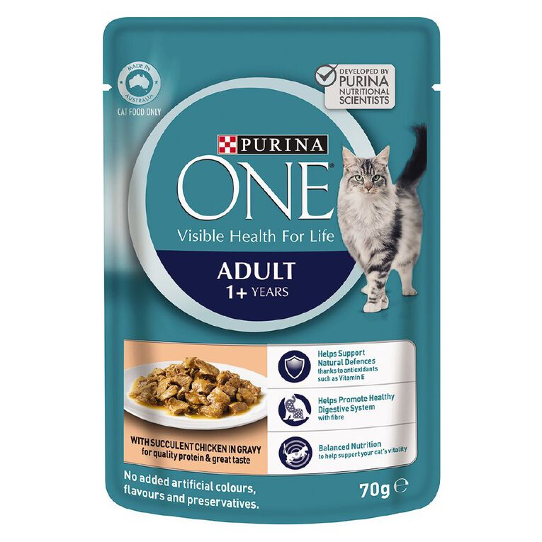 Purina ONE Cat Pouch Adult with Chicken 70g, , hi-res