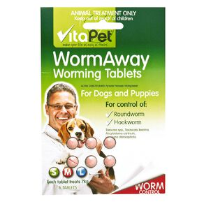 Vitapet Wormaway Dog 6 Pack
