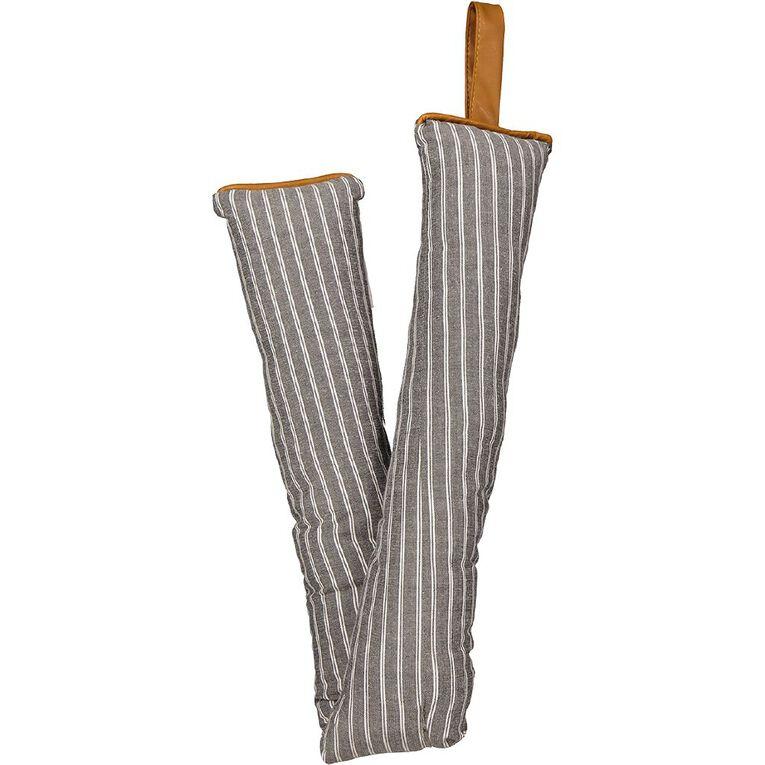 Living & Co Draught Stopper Stripe White 85cm x 10cm, White, hi-res