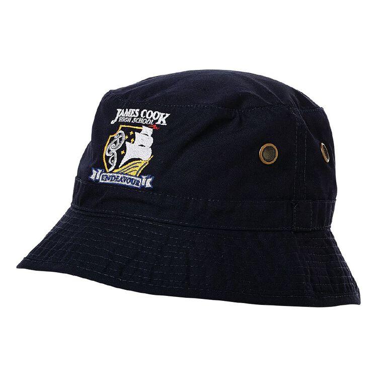 Schooltex James Cook Bucket Hat with Embroidery, Navy, hi-res