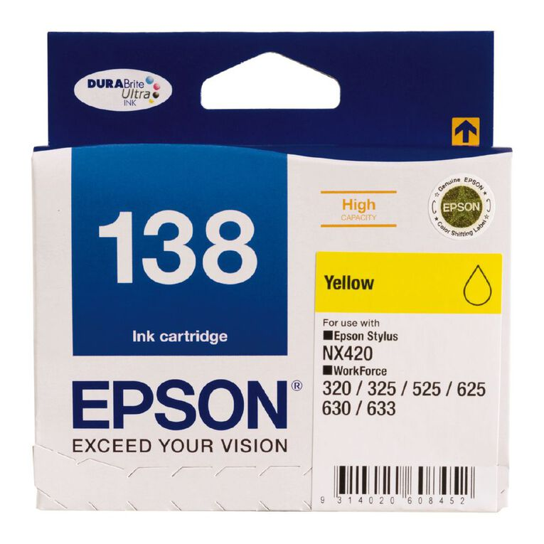 Epson Ink 138 Yellow (545 Pages), , hi-res