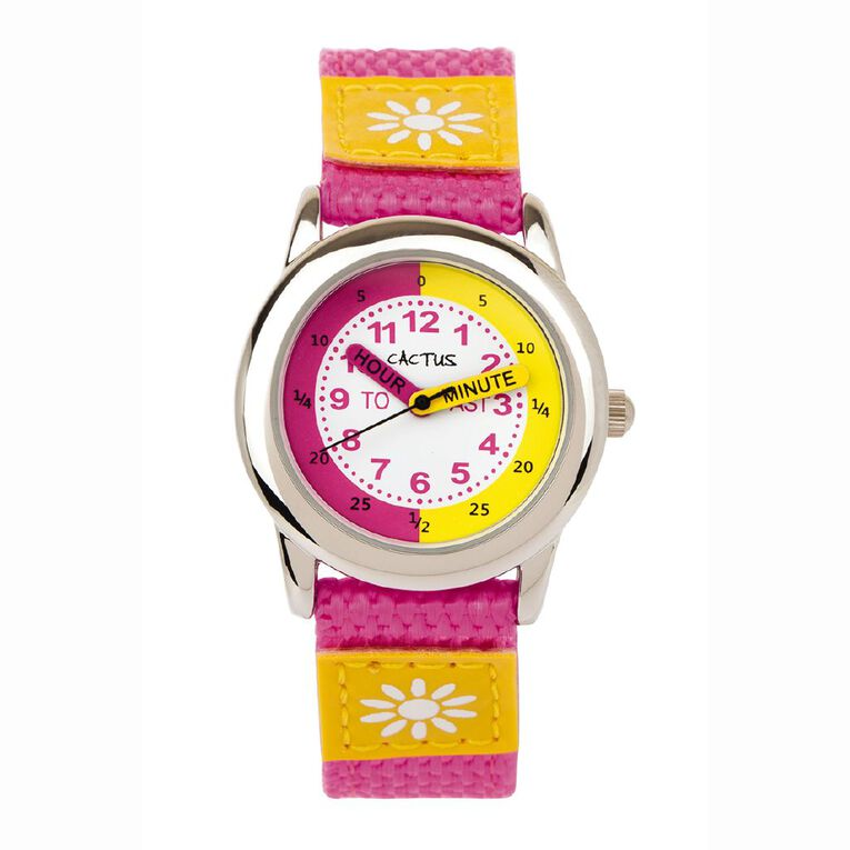Cactus Kids Analogue Watch Pretty Pink, , hi-res image number null
