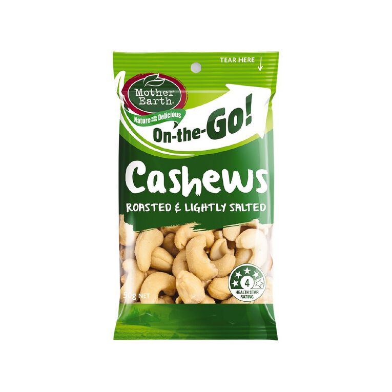 Mother Earth Lightly Salted Cashews 50g, , hi-res