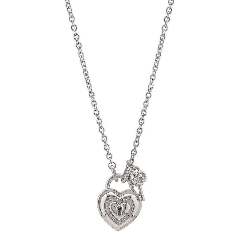 1/10 Carat of Diamonds Sterling Silver Lockable Locket Necklace, , hi-res image number null