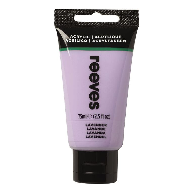 Reeves Fine Acrylic 75ml Lavender 305 75ml, , hi-res