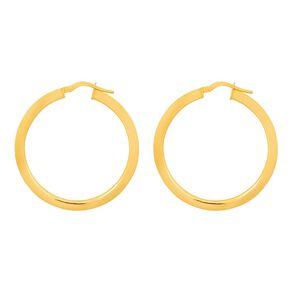 9ct Gold Tube Hoop Earrings