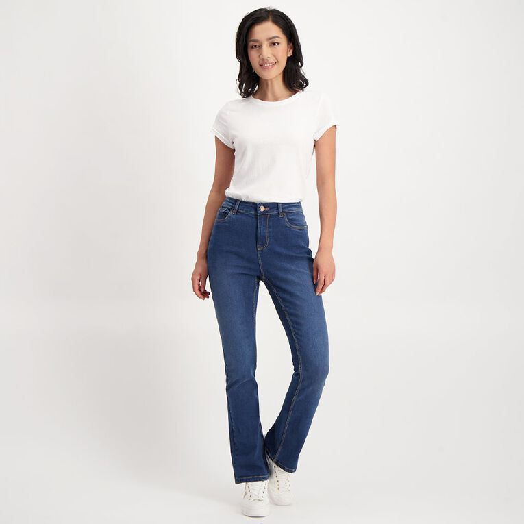 H&H Women's Classic Bootcut Jeans, Denim Dark, hi-res