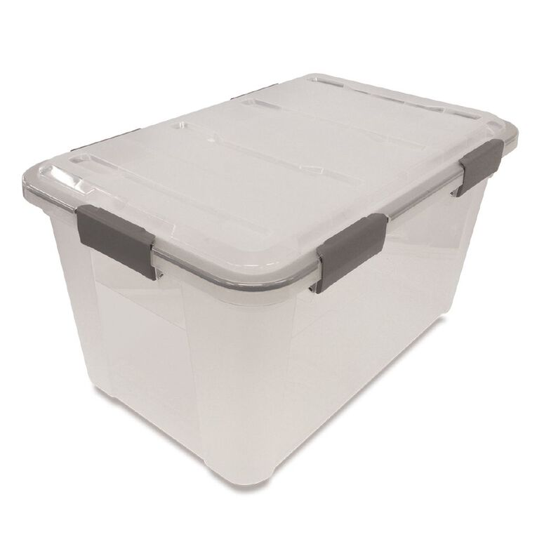Living & Co Storage Box Weather Proof Clear 50L, , hi-res
