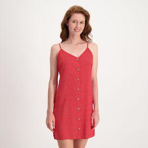 H&H Women's Sleeveless Button Mini Dress