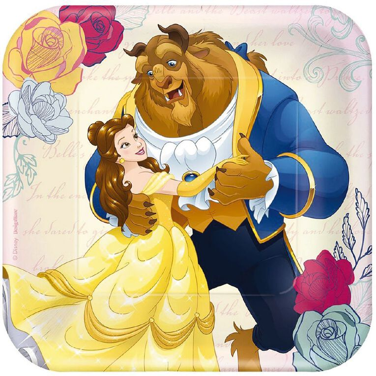 Disney Beauty and the Beast Paper Plates 17cm 8 Pack, , hi-res