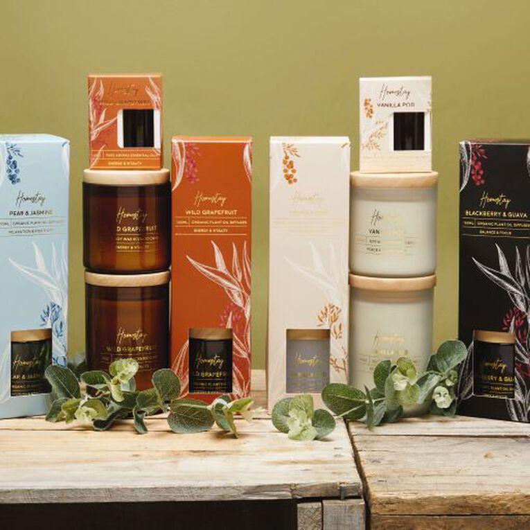 Living & Co Homestay Essential Oil Vanilla Pod White 15ml, White, hi-res