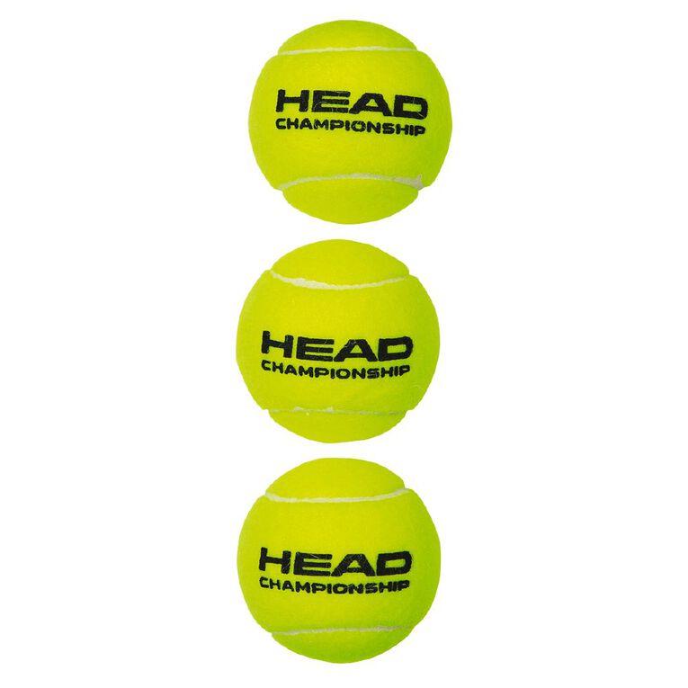 Head Championship Tennis Balls 3 Pack, , hi-res