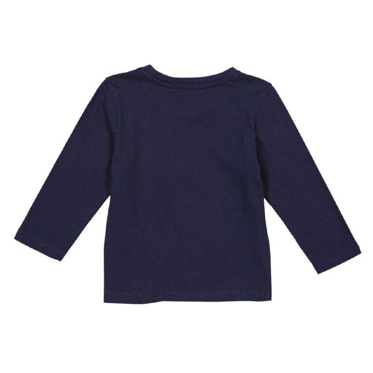 Young Original Long Sleeve Printed Tee, Blue Dark, hi-res
