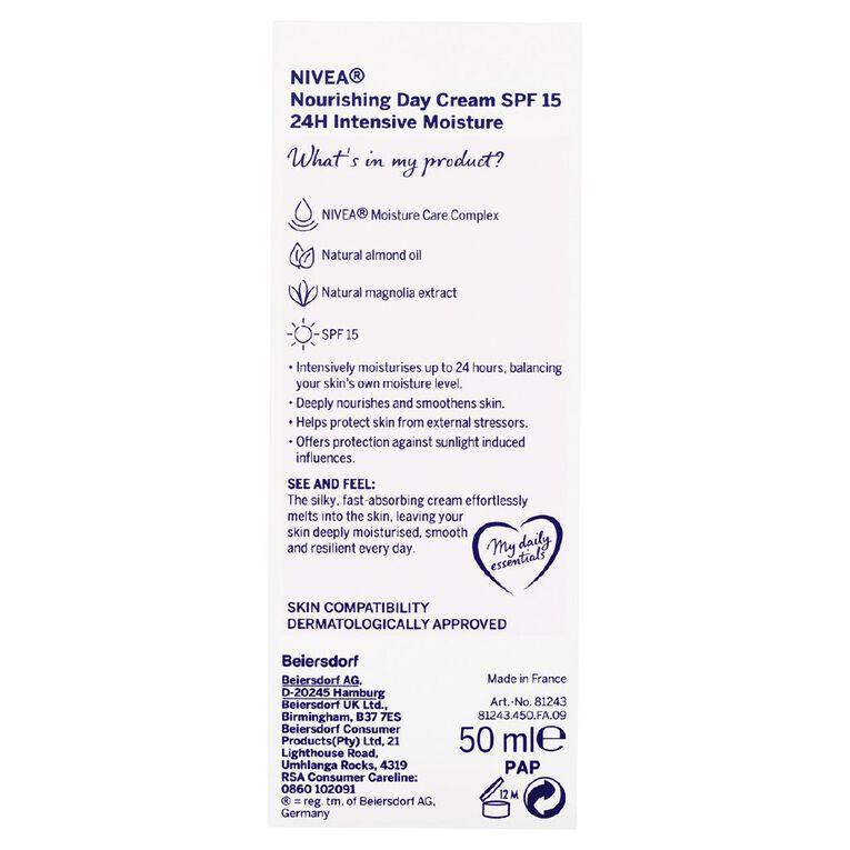Nivea Daily Essentials Rich Moisturising SPF15 Day Cream 50ml, , hi-res