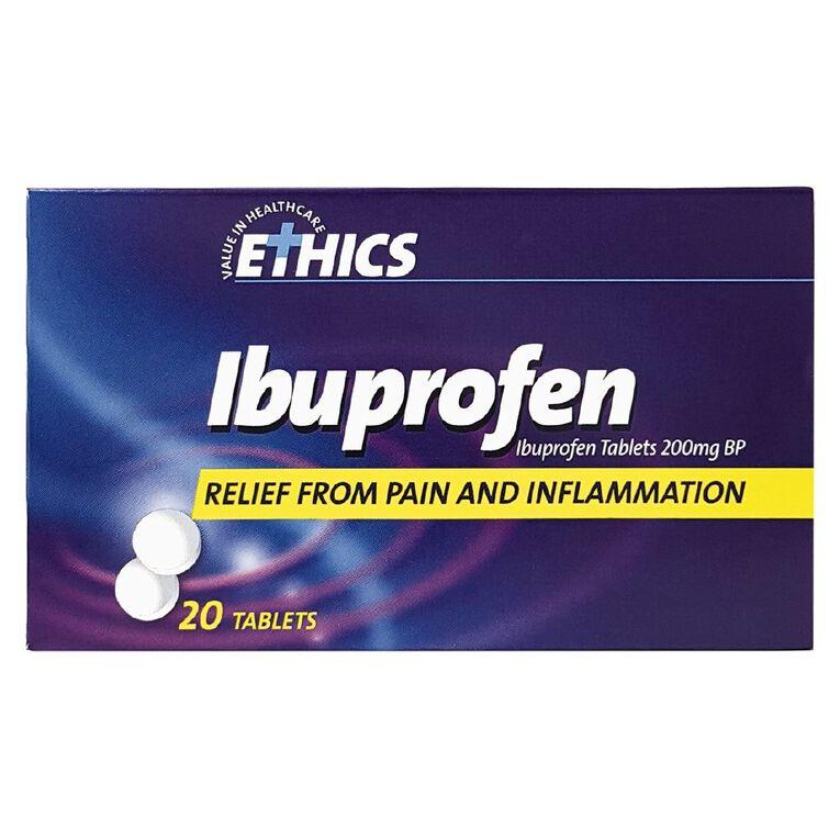 Ethics Ibuprofen Tablets 200mg 20s, , hi-res