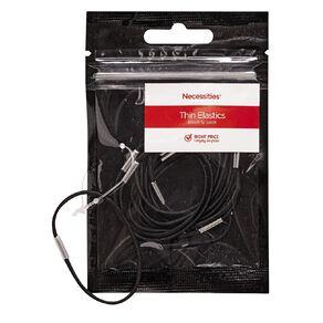 Colour Co. Hair Thin Elastics Black 12 Pack