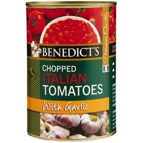 Benedict's Chopped Tomatoes Garlic 400g