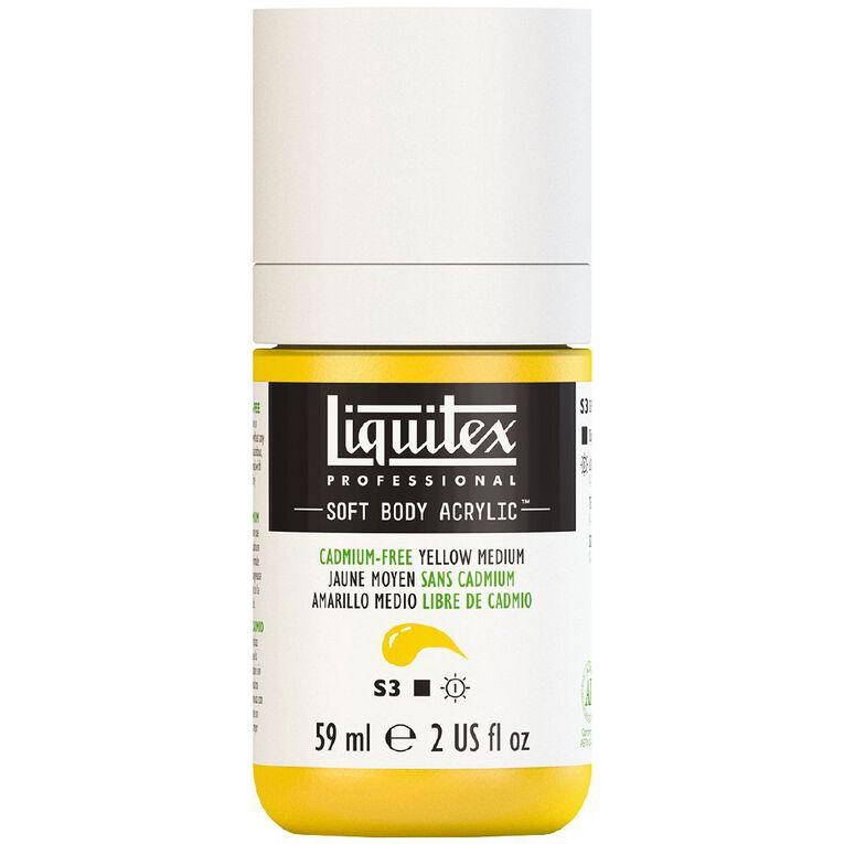 Liquitex Soft Body Acrylic 59ml Cadmium Free Medium Yellow S3, , hi-res
