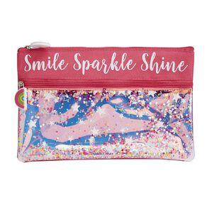 Kookie Bright Pencil Case Sparkle Pink