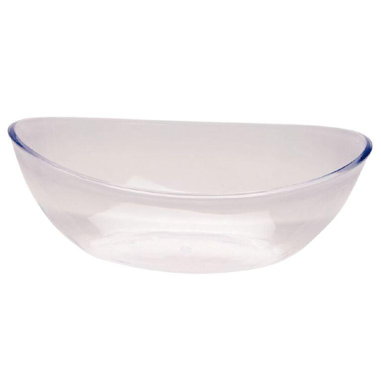 Living & Co Plastic Serve Bowl Clear, , hi-res