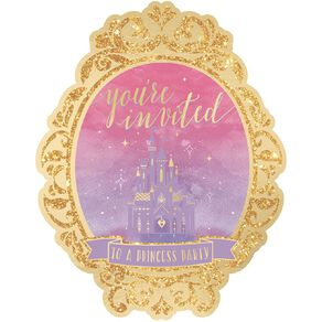 Disney Princess Once Upon A Time Deluxe Invitations 8 Pack