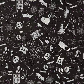 Scarehouse Halloween Black Bats Tablecover 214cm x 138cm