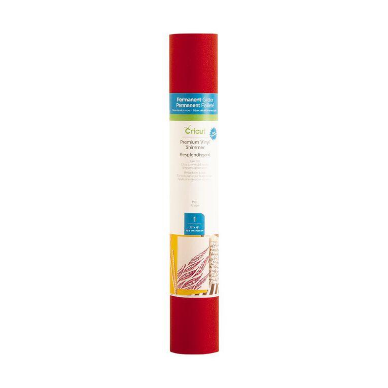 Cricut Vinyl Everyday Shimmer 12x48 Red, , hi-res