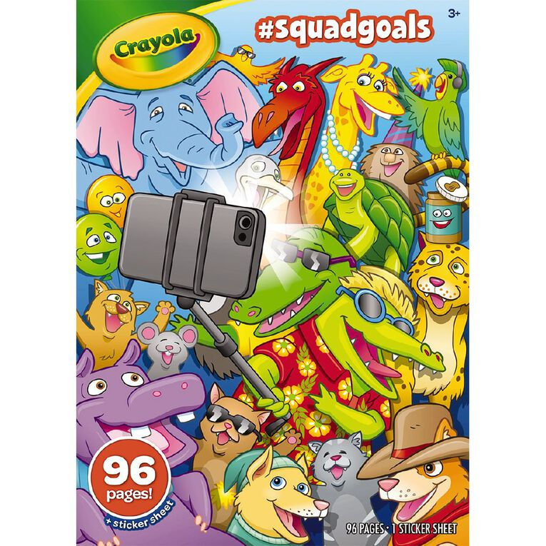 Crayola Colouring Book Squad Goals 96 Page, , hi-res