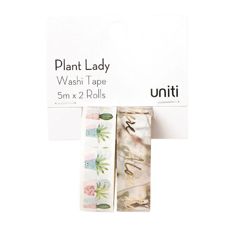 Uniti Plant Lady Washi Tape 2 Pack Plant Party, , hi-res