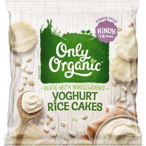 Only Organic Yoghurt Rice Cakes 30g