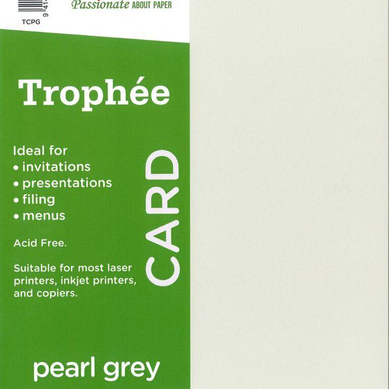 Trophee Card 160gsm 15 Pack Pearl Grey A4, , hi-res