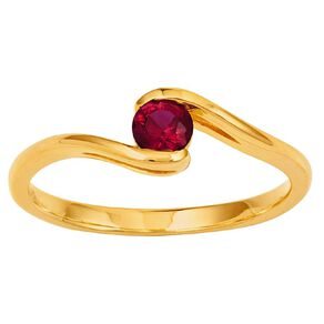 9ct Gold Synthetic Ruby Embrace Ring