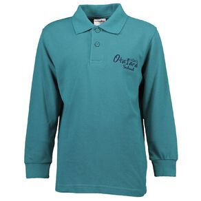 Schooltex Otatara School Long Sleeve Polo with Embroidery