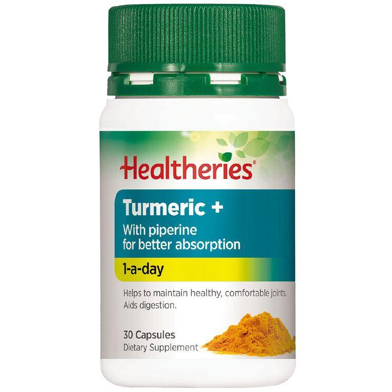 Healtheries Turmeric Plus 3000mg 30s, , hi-res